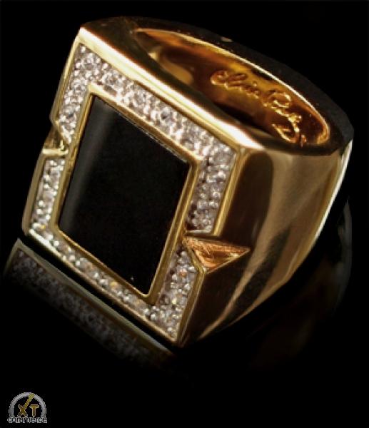 Elvis Ring -l black onyx-