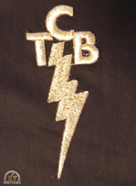 TCB Sticker zum Aufnähen/bügeln ! 10 cm hoch  oder 5 cm hoch